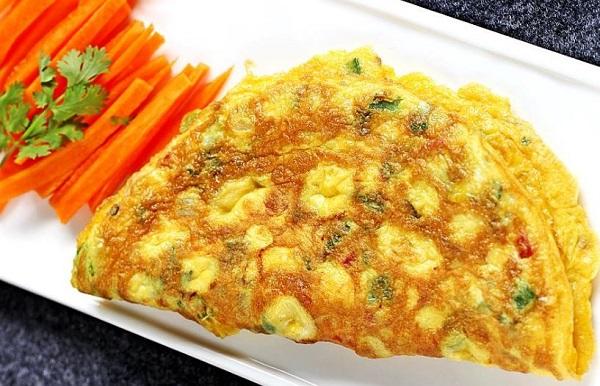 بيض بالجزر والجبن