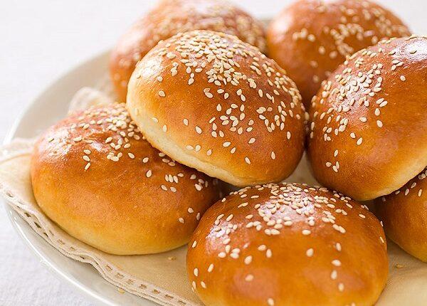 خبز البرجر بالبطاطس